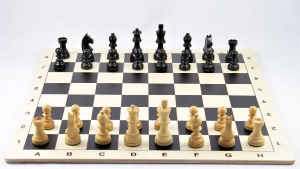 Schachset Schachfiguren in Staunton Form mit Schachbrett aus Holz