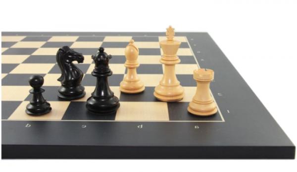 Schach Set Grand Staunton 95, mit Schachbrett Anigré schwarz