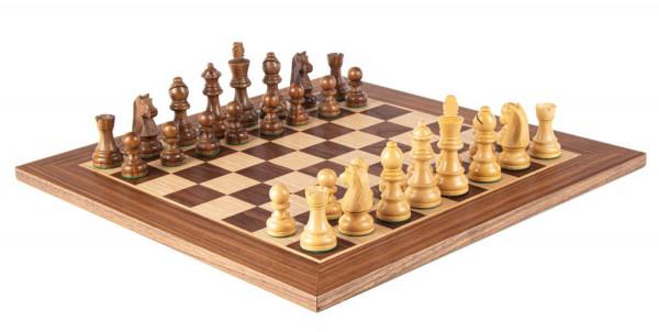 Schachset Pirc 95 Nussbaumholz, mit Schachfiguren und Schachbrett 50x50 cm