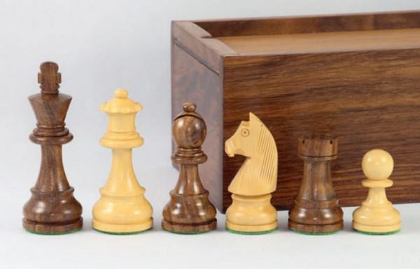 Staunton Schachfiguren 89 mm, Akazienholz und Buchsbaum, beschwert