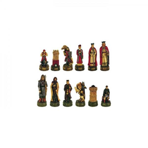 Camelot Schachfiguren aus Kunststein