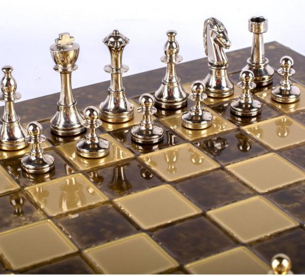 Staunton Schachset Medium, Schachfiguren und Schachbrett mit Geschenkbox