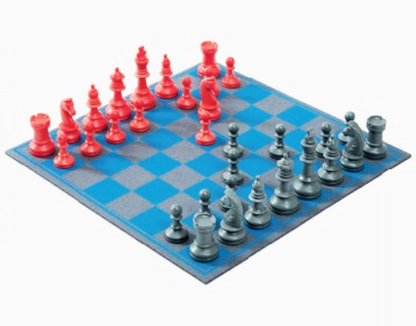 Schachspiel Aufgerollt aus hochwertigem Wollfilz 29x29cm, in Geschenkbox