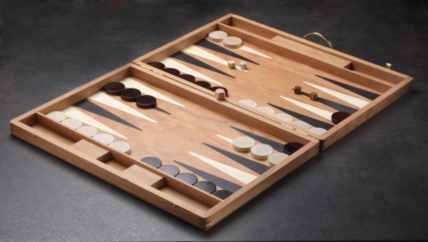 Backgammon Koffer in Kirsche, groß 46x31 cm