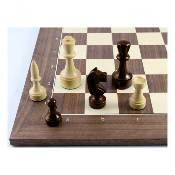 Schach Set Paramo aus Akazienholz, mit Schachbrett aus Nussbaum, Tournament