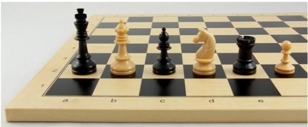 Schachset Basic Club 72 mm, Schachfiguren mit Schachbrett
