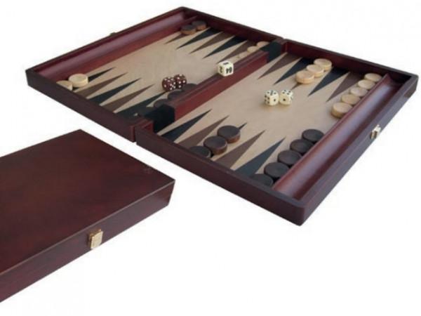 Backgammon aus Buche und Ahorn Holz, 35x23 cm