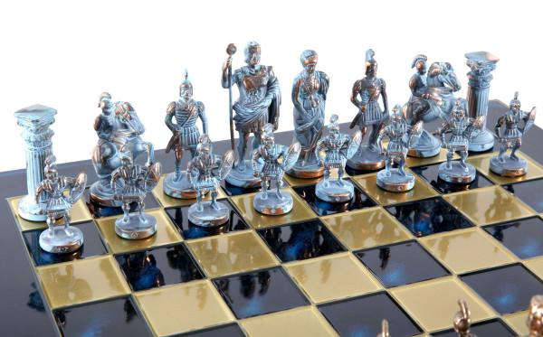 Schachspiel Griechisch und Römische Zeitalter Antik-Stil mit luxuriösen Geschenkbox