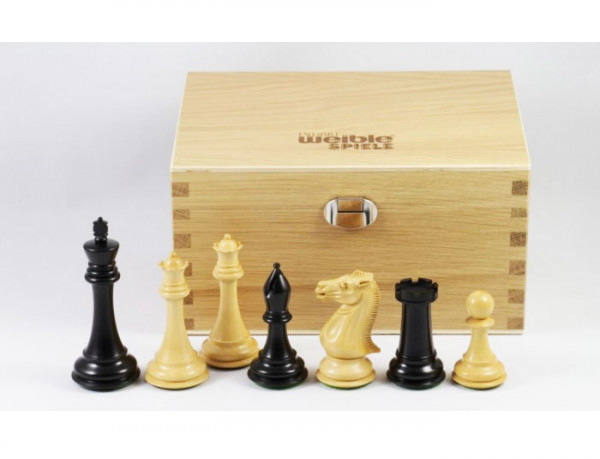 Top Tournament exklusive Schachfiguren, Königshöhe 102 mm, schöner handgeschnitzter Springer