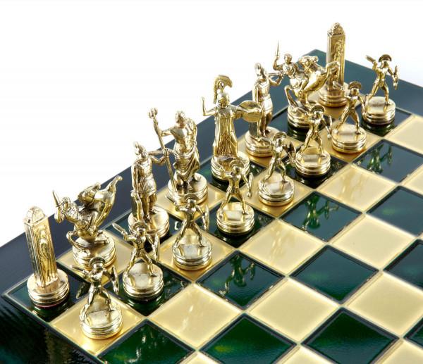 Athena und Poseidon Mythos Schachspiel mit Geschenkbox