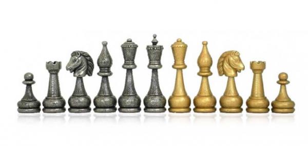 Oriantal Schachfiguren aus Zink