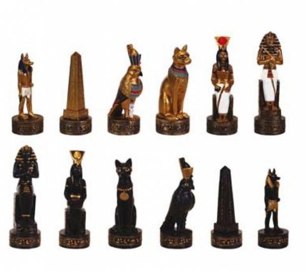 Ägypten Schachfiguren aus Kunststein