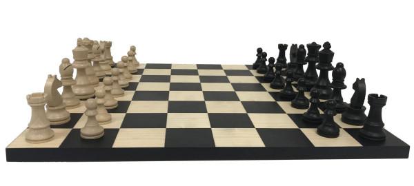 Schachset Classic Buche 76, Schachfiguren mit Schachbrett