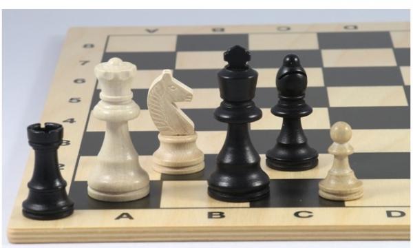 Schach-Set Staunton, Buche schwarz und natur 76 mm
