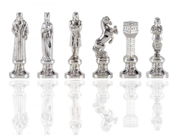 Renaissance Schachfiguren aus Zinklegierung