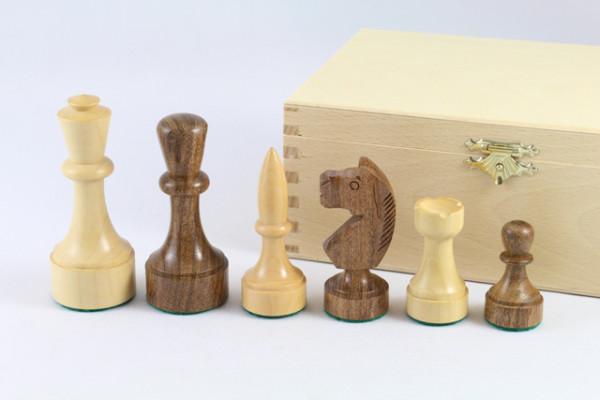 Schachfiguren Modern Style - Königshöhe 95 mm, handgeschnitzter Springer