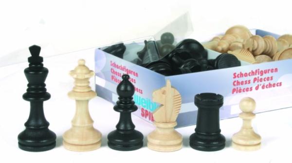 Schachfiguren Bohemia Staunton schwarz 62 mm