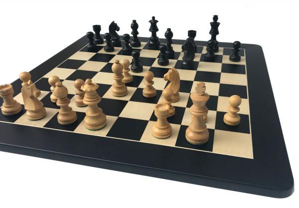 Schachset Black Classic Staunton 85, Schachfiguren mit Schachbrett