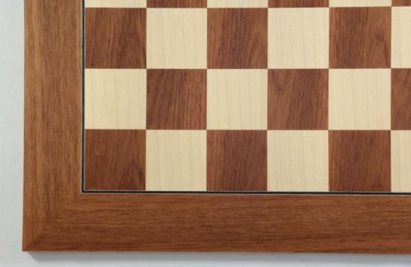 Schachbrett Teak und Ahorn Intarsie, 55x55 cm