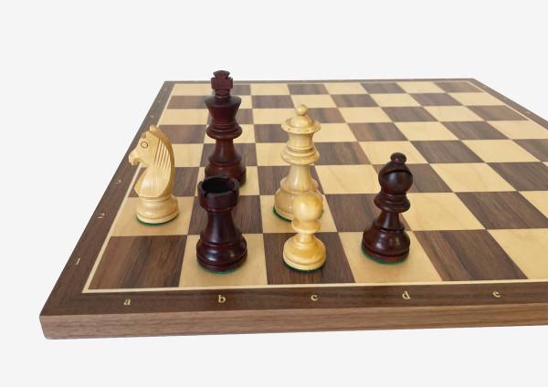 Schach-Set Pleasant 76, mit Schachbrett Ahorn und Nussbaumholz