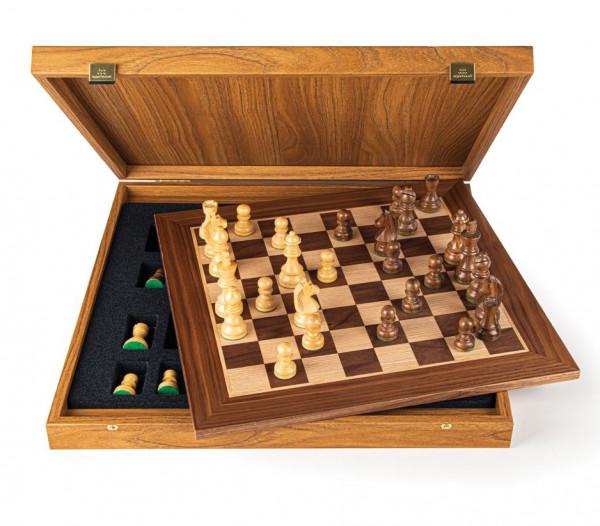 Schachset enPassant 95 Nussbaumholz, mit Geschenkbox, Schachbrett 50x50cm