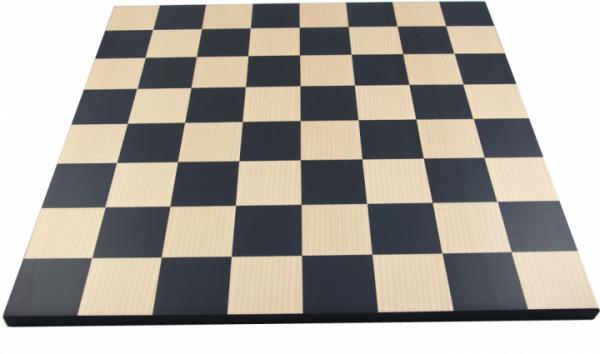 Schachbrett Anigré schwarz und Ahorn, Intarsie, ohne Rand, Feldgröße 55 mm