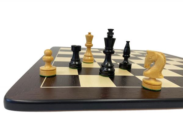 Schachset schwarz Wenge mit Schachfiguren in Ebenholz und Buchsbaum mit Schachbrett