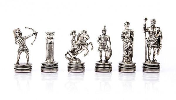Schachfiguren Bogenschützen aus Metall mit einer Königshöhe 5,4 cm