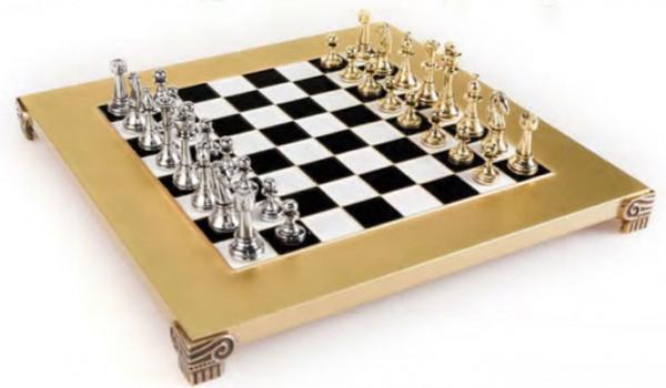 Klassisch Metall Staunton Schachspiel mit Geschenkbox