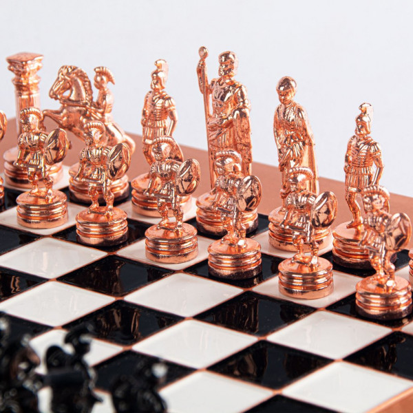 Schachspiel Griechisch und Römische Zeitalter, aus Kupfer, mit Geschenkbox