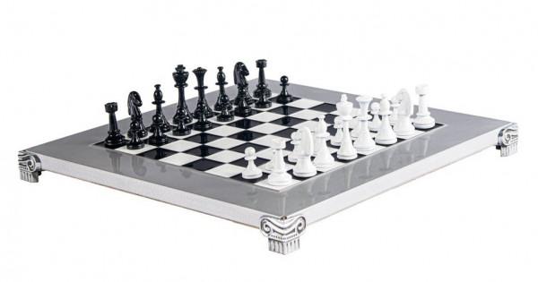 Staunton Schachspiel aus Aluminium und Zinklegierung, mit Geschenkbox