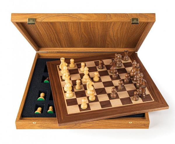 Schachset enPassant 85 Nussbaumholz, mit Geschenkbox, Schachbrett 40x40cm