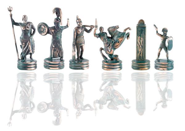 Poseidon und Athena Mythology Schachfiguren Antik-Stil aus Zinklegierung