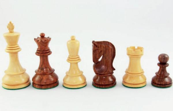 Schachfiguren Opponent Königshöhe 95 mm, schöner handgeschnitzter Springer, doppelt gewichtet
