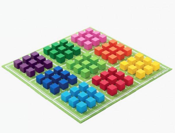 Sudoku Logikrätsel Aufgerollt aus hochwertigem Wollfilz 30x30cm, in Geschenkbox