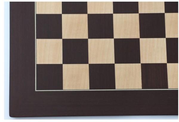 Exklusives Schachbrett aus Wenge und Bergahorn, Feldgröße 55 mm