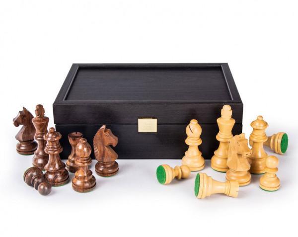 Schachfiguren aus Holz Sheesham/Buchsbaum, Königshöhe 85 mm, gewichtet