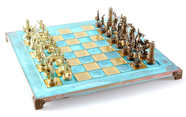 Athena und Poseidon Mythos Antik-Stil Schachspiel mit Geschenkbox