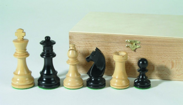 Schachfiguren-Staunton schwarz 89 mm beschwert