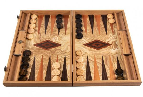 Backgammon Olivenholz 30x20 cm, in Geschenkbox