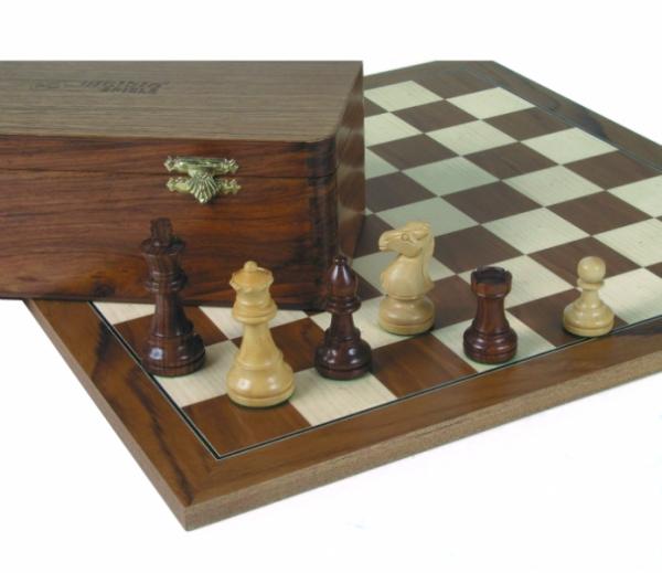 Schach-Set Staunton-Design, handgeschnitzter Springer, Jubiläums-Edition