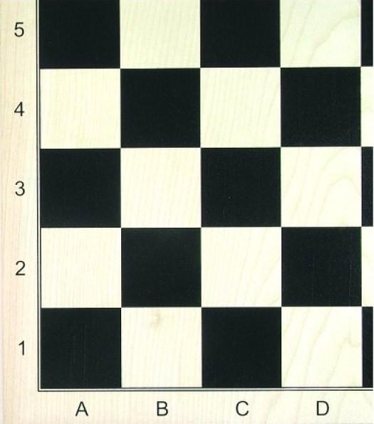 Schachbrett Ahorn furniert, schwarz bedruckt, matt lackiert, Feldgröße 58mm