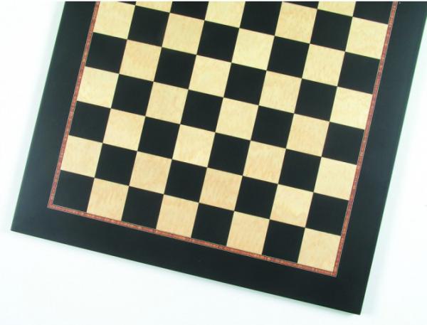 Schachbrett, Feldgröße 50 mm, Intarsie, mit Zebrano Zierader