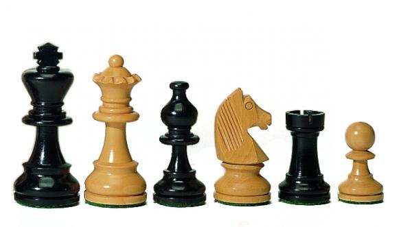 Staunton-Schachfiguren 89 mm aus Ebenholz kaufen