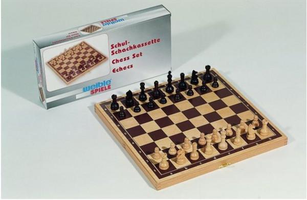 Buche-Schachkassette - Königshöhe 55 mm, mit Zahlen und Buchstaben