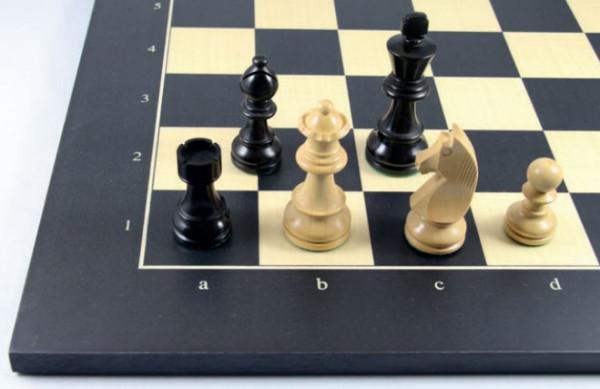 Schachset Black Tournament Staunton 89, Ebenholz Massivholz und Buchsbaum