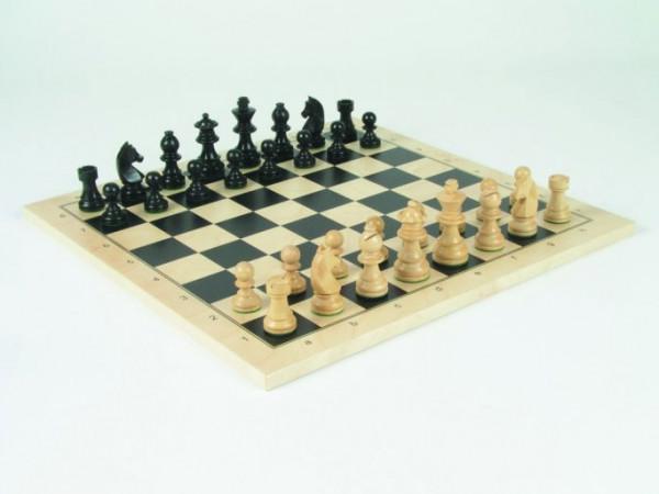 Schachspiel Staunton, Buche schwarz und natur 76 mm