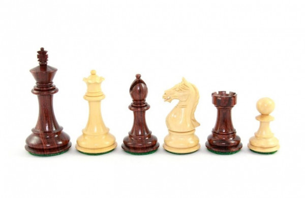 Schachfiguren Edles Staunton 89, aus Massivholz und Buchsbaum, in Geschenkbox