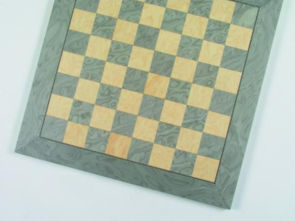 Exklusives Schachbrett, Feldgröße 45 mm, Intarsie, mit feiner Paralell-Ader