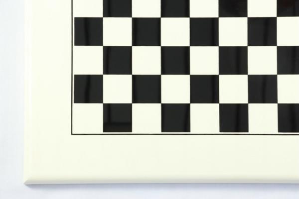Schachbrett weiß lackiert und schwarz bedruckt, Feldgröße 35